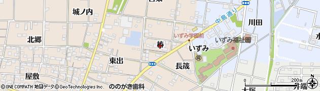 愛知県一宮市佐千原(椿)周辺の地図