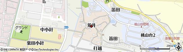愛知県犬山市荒井周辺の地図