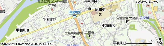 岐阜県多治見市平和町周辺の地図