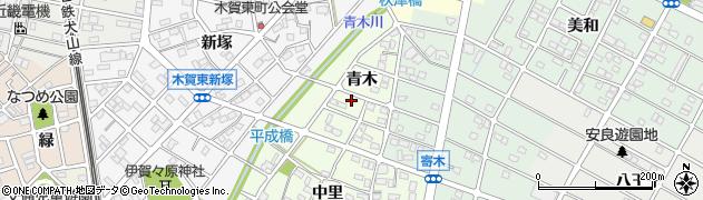 愛知県江南市大海道町(青木)周辺の地図