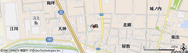 愛知県一宮市佐千原(八島)周辺の地図