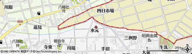 愛知県一宮市時之島(水元)周辺の地図