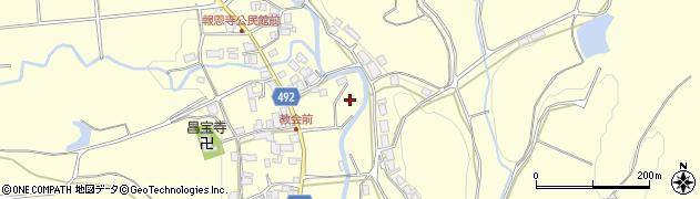 京都府福知山市報恩寺(夏目)周辺の地図