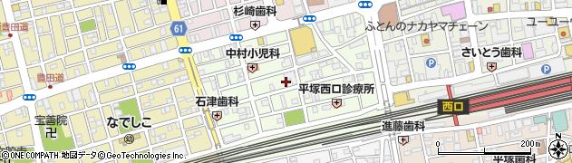 神奈川県平塚市錦町周辺の地図