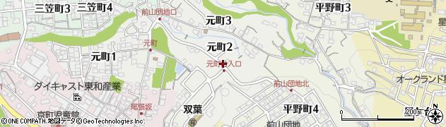 岐阜県多治見市元町周辺の地図