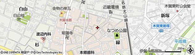 愛知県江南市木賀本郷町(東)周辺の地図