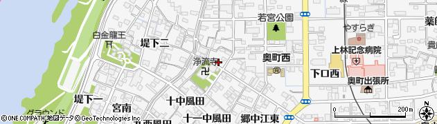 愛知県一宮市奥町(川並東)周辺の地図