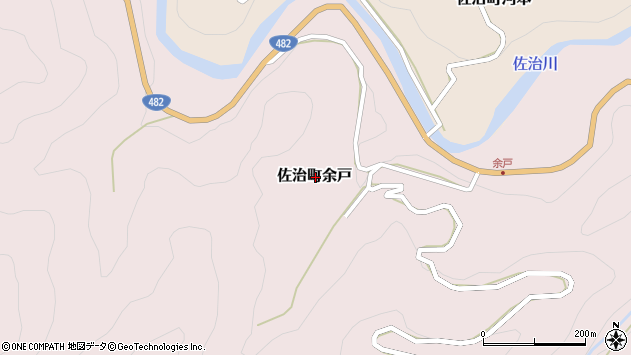 〒689-1323 鳥取県鳥取市佐治町余戸の地図