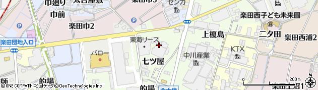 愛知県犬山市七ツ屋周辺の地図