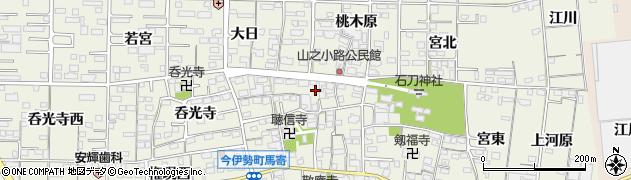 愛知県一宮市今伊勢町馬寄(山之小路)周辺の地図