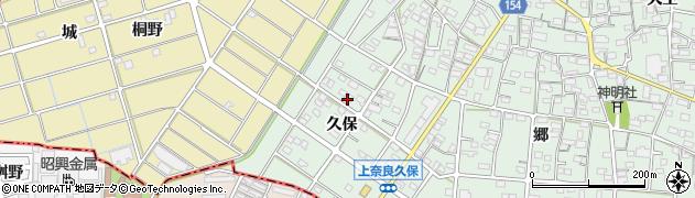 愛知県江南市上奈良町(久保)周辺の地図