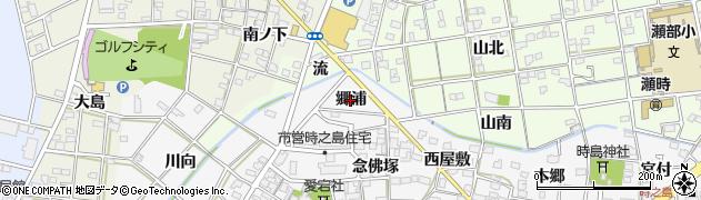 愛知県一宮市時之島(郷浦)周辺の地図