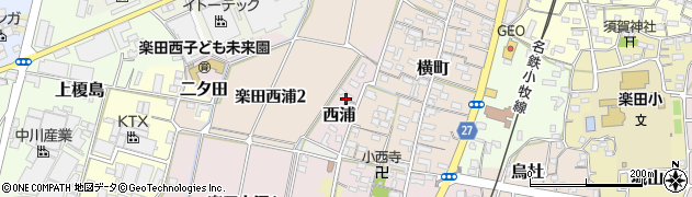 愛知県犬山市西浦周辺の地図