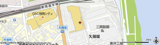 神奈川県平塚市久領堤周辺の地図