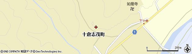 京都府綾部市十倉志茂町(風呂谷)周辺の地図