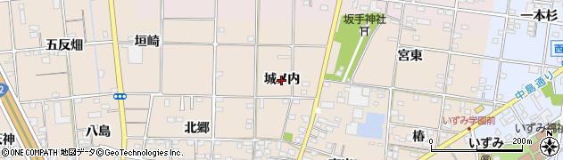 愛知県一宮市佐千原(城ノ内)周辺の地図