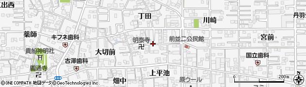 愛知県一宮市奥町(前沼)周辺の地図