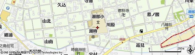 愛知県一宮市瀬部(川原)周辺の地図