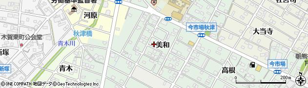 愛知県江南市今市場町(美和)周辺の地図