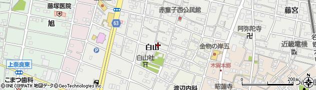愛知県江南市赤童子町周辺の地図