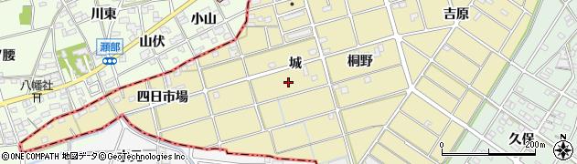 愛知県江南市島宮町(城)周辺の地図
