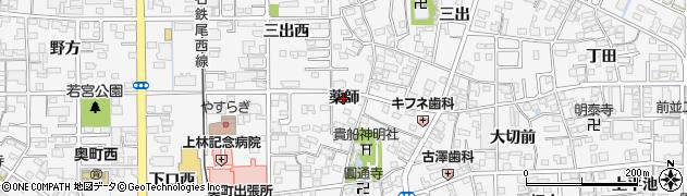 愛知県一宮市奥町(薬師)周辺の地図