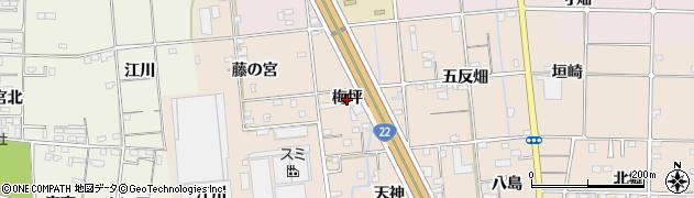 愛知県一宮市佐千原(梅坪)周辺の地図