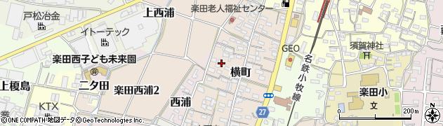 愛知県犬山市横町周辺の地図