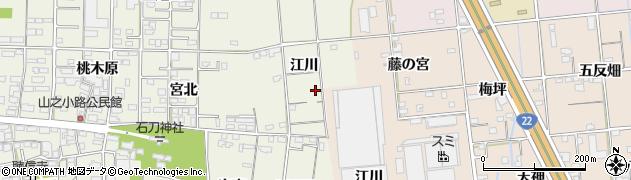 愛知県一宮市今伊勢町馬寄(江川)周辺の地図