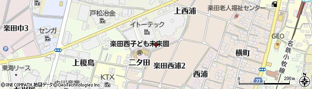 愛知県犬山市二タ田周辺の地図