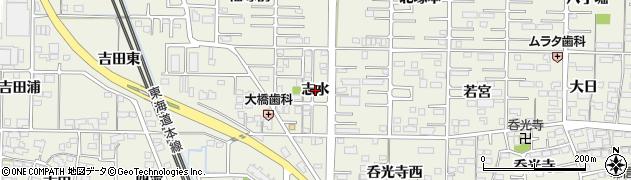 愛知県一宮市今伊勢町馬寄(志水)周辺の地図
