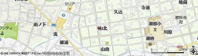 愛知県一宮市瀬部(山北)周辺の地図