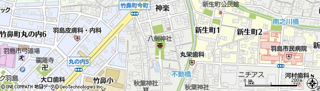 八剣神社周辺の地図
