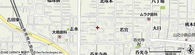 愛知県一宮市今伊勢町馬寄周辺の地図