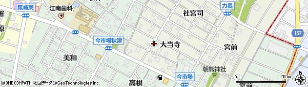愛知県江南市力長町(大当寺)周辺の地図