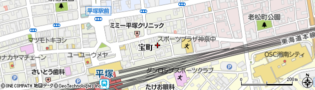 神奈川県平塚市宝町周辺の地図