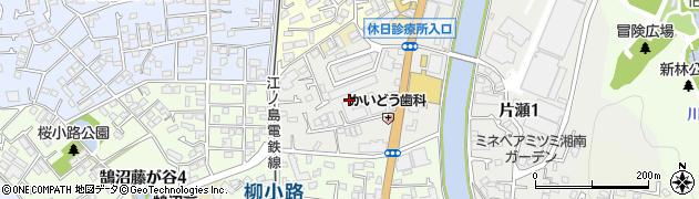 神奈川県藤沢市片瀬周辺の地図