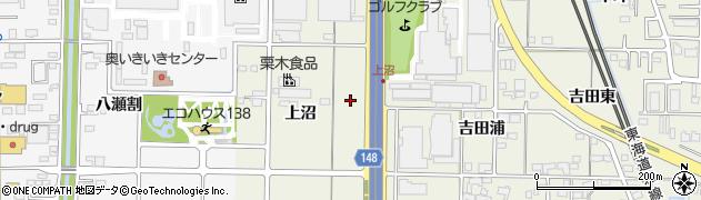 愛知県一宮市今伊勢町馬寄(上沼)周辺の地図