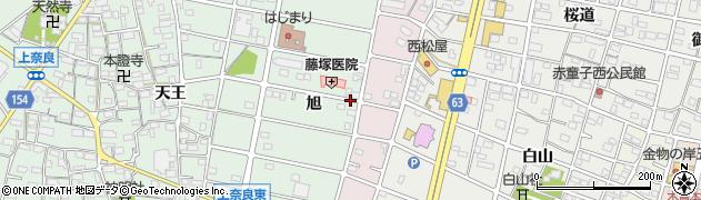 愛知県江南市上奈良町(旭)周辺の地図