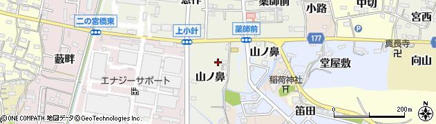 愛知県犬山市山ノ鼻周辺の地図