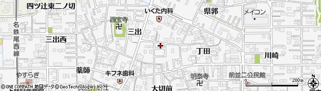 愛知県一宮市奥町(丁田)周辺の地図