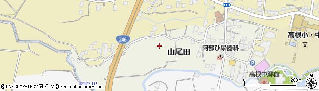 静岡県御殿場市山尾田周辺の地図