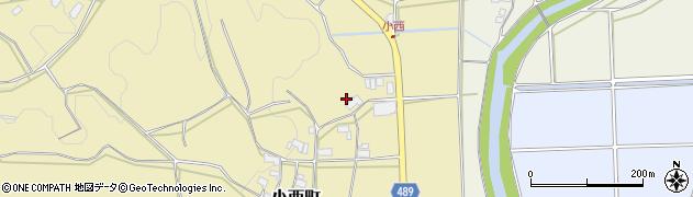 京都府綾部市小西町(宮ノ前)周辺の地図