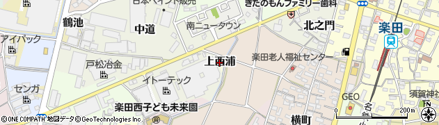 愛知県犬山市上西浦周辺の地図