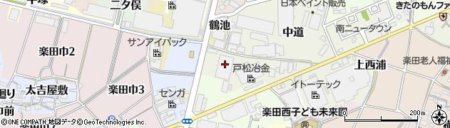 愛知県犬山市味加田周辺の地図