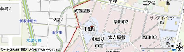 愛知県犬山市巾廻り周辺の地図