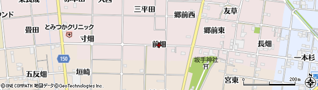 愛知県一宮市富塚(前畑)周辺の地図