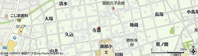 愛知県一宮市瀬部(寺浦)周辺の地図