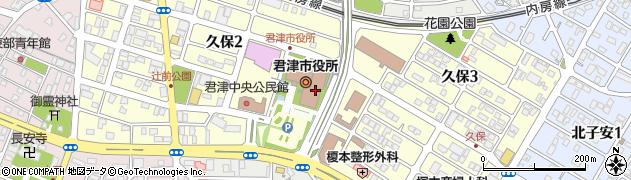 千葉県君津市周辺の地図