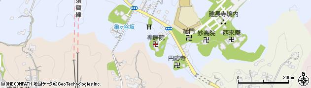 禅居院周辺の地図